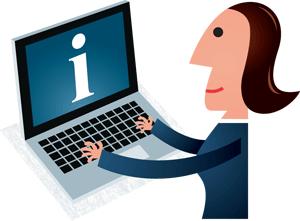 Kvinde med laptop